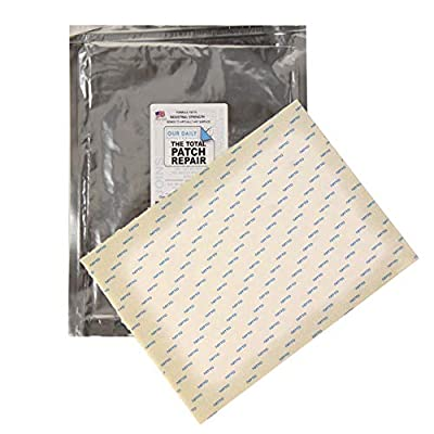 "Total Patch Repair - 9"" X 12"" - Great for Fiberglass, Steel, Concrete, Wood, PVC, Plastic, Galvanized Pipe and More"