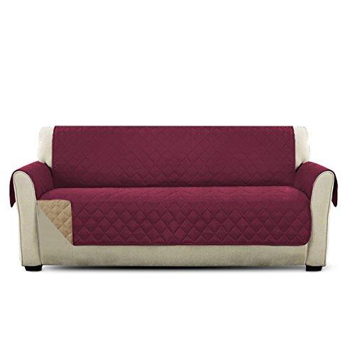 PETCUTE Sofaschoner 2 sitzer Couch überwurf couchbezug sofaüberzug Sofa Schutz Sofa Abdeckung 3 sitzer Sofaüberwurf Weinrot