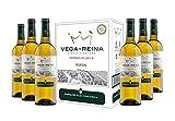 Caja de Vega Reina Verdejo D.O Rueda Vino Blanco - 6 botellas x 750 ml. - 4500 ml
