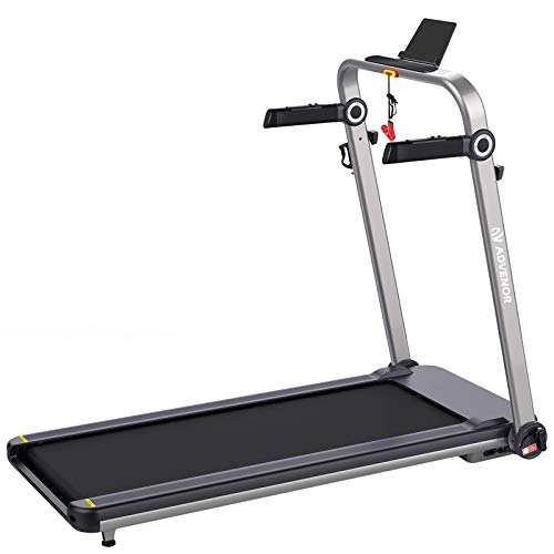 ADVENOR Treadmill Motorized Treadmills 3.0 HP Electric Running Machine Installation-Free Under Desk Treadmill Free Assembly Folding Exercise Fitness Indoor (Black)
