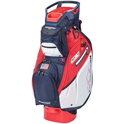 Find Bargain Sun Mountain 2020 C-130 Supercharged Golf Cart Bag Navy/Red