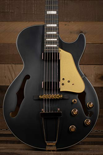 Ibanez AG85 Black Flat Chitarra Jazz Semiacustica Hollow-Body
