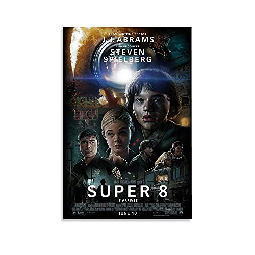 MINZHE Thriller Movie Poster Super 8 (2011) Room Poster Canvas Poster Living Room Wall Decoration Bedroom Painting Office Dormitory Mural Exquisite Birthday Gift 08x12inch(20x30cm)