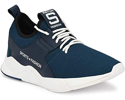 adiso Men's Synthetic Casual Running|Gym|Walking Sport Shoes-7 Navy