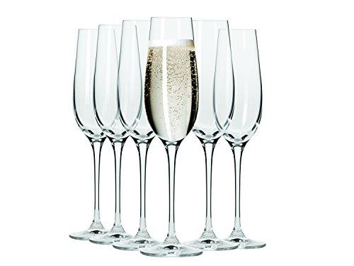 Maxwell Williams Vino - Set di 6 calici da champagne e prosecco in confezione regalo, Trasparente, Champagne Flutes