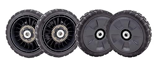 WILDFLOWER Tools HRR216 Wheel Kit, Set of 4, (2) Rear Wheels (42710-VL0-T00ZA) and (2) Front Wheels (44710-VL0-T00ZA)   Longer Lasting Better Grip Treads