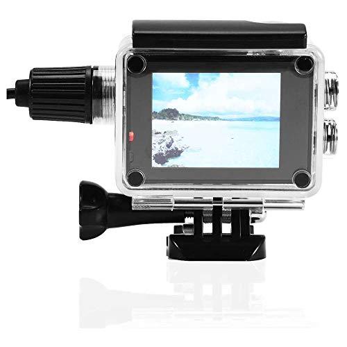 Yuyanshop Carcasa impermeable, para cámara deportiva con cable de carga para SJCAM SJ4000/Sj7000 F60 F68 W8 W9 H9, para buceo, snorkel