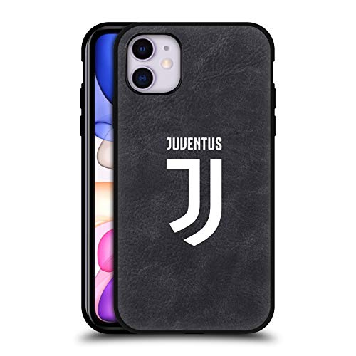 Head Case Designs Offizielle Juventus Football Club Voll Logo Schwarze Leder Rueckseiten Huelle kompatibel mit Apple iPhone 11