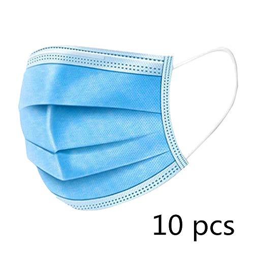 KETONG 50 Piezas/Capa de Paquete con no desechable respirador Crochet Filtro de Tela 3 de Sellado de la mascarilla de Polvo de carbón Activo,10