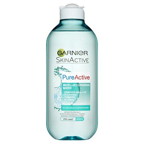 Garnier Skin Acrtive Pure Active Micellar Water Facial Cleanser Oily Skin,...