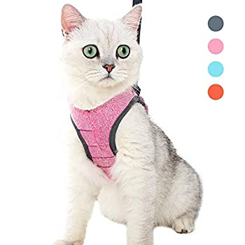 N / A - Harnais et laisse pour chat - Réglable - Maille souple - Ultra léger - Rembourré - Veste de course pour chatons et chiots - Taille S - Rose