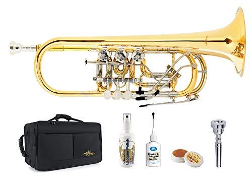 Lechgold CTR-19L concerttrompet Deluxe Set - stemming: C - 2 verwisselbare stemkabels - incl. beschermende lichte koffer, Klier-mondstuk en onderhoudstoebehoren