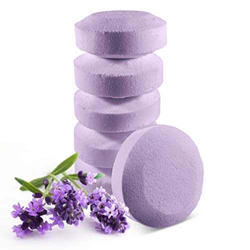 6 Aromatherapy Shower Steamers Relaxing Lavender - Natural Vapor Tablets To Treat And Pamper Yourself