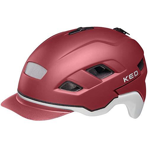 KED Helmet Berlin Fahrradhelm/E-Bike/Mountainbike/VTC Erwachsene, Unisex, Merlot ash matt, L 56 – 61 cm