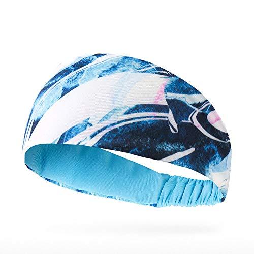 KAQI Sport Hoofdbanden voor Mannen en Vrouwen, Elastische Vocht Wicking Unisex Haarband, Sport Zweet Hoofdbanden Turban, voor Fitness, Oefening, Hardlopen, Basketbal