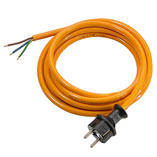 as - Schwabe PUR Baustellen-Anschlussleitung 5 m – Robuste Leitung 230 V, 16 A mit Polyurethan-Außenmantel H07BQ-F 3G1,5 – Ein Ende mit Schuko-Stecker, ein Ende abgemantelt – IP44 – Made in EU I 70908