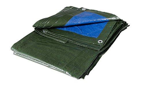 VERDELOOK Telo occhiellato Multiuso in polietilene, 10x6 m, Verde/Blu, coperture