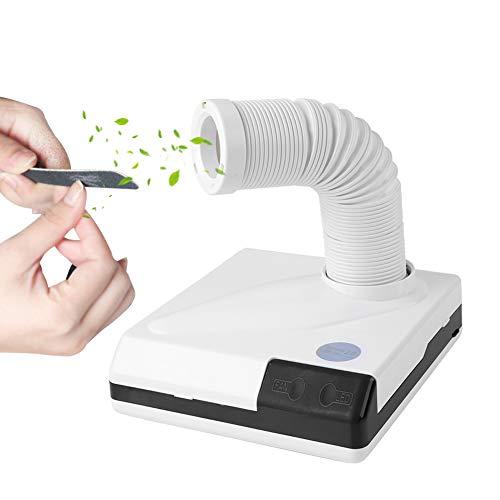 Nagel Staubsauger, 60W 2 IN 1 Salon Saug Staubsammler Maschine Mit LED Licht Starker Power Nail Art Staubsauger Maniküre Staubsauger Maschine, Weiß
