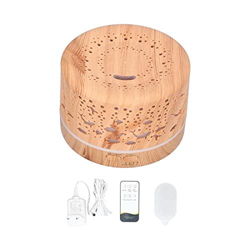 Difusor de aroma de luz nocturna, conectable a música Humidificador de grano de madera Elegante hermoso para dormitorio para sala de yoga Sala de estudio para el hogar para la oficina(Transl)