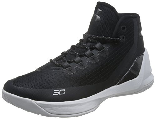 Under Armour Men's Curry 3 Basketball Shoe Black/White Size 9 M US