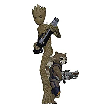 Hallmark Keepsake Christmas Ornament 2018 Year Dated Marvel Avengers  Infinity War Groot and Rocket
