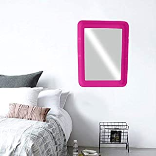 Majik Wall Mirror for Living Room Bedroom Decor Wall Decor Item for Gift Purpose (Square Mirror Pink)