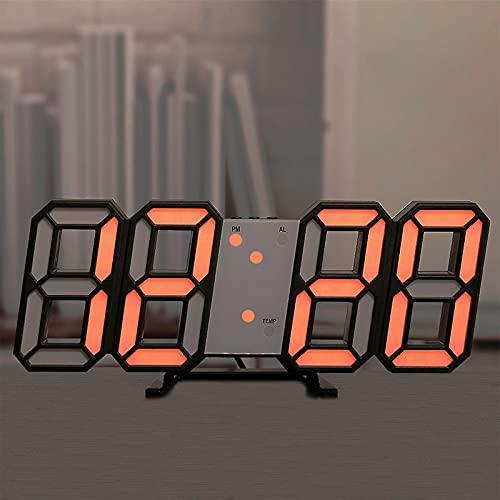 ZHANGZHI Towayer 3D große LED Digitale Wanduhr Datumszeit Celsius Nightlight-Display Table Desktop-Uhren Wecker vom Wohnzimmer (Color : Light Coffee)
