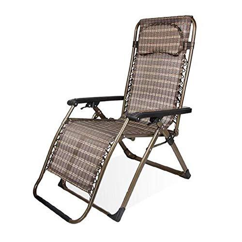 Sillón Sun Lounger Zero Gravity Reclining Lounge Chair Multiposición al aire libre jardín terraza 6.22