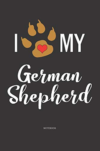 Notebook: German Shepherd Notebook / Diary / Journal with 120 Blank Lined Pages Large Women, Girl, Man, Family