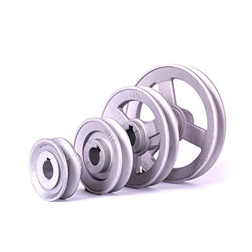 Sewing machine accessories Máquina de coser de aluminio Polea Rueda 45-120mm sólido de transferencia hueco Timming rueda de la máquina de coser piezas de repuesto Household tools ( Color : 65MM )