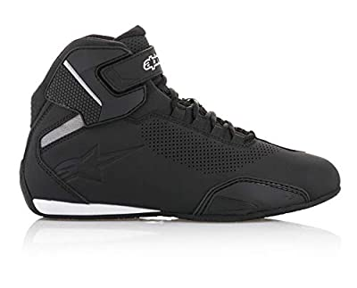 Alpinestars 25156181095 Men's Sektor Vented Street Motorcycle Shoe, Black, 9.5