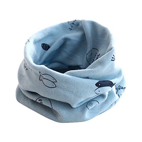 ZUMUii Butterme bébé Doux Peau Amicale Coton Cou Chaud Halstuch Fisch Impression écharpe Mignonne pour Les Enfants 2-12 Ans