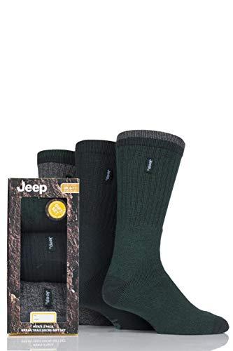 3 Paar Herren-Jeep Gelände Freizeit Socken Geschenkbox - Grün 40-46