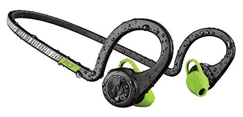 Plantronics BackBeat FIT Wireless Bluetooth Headphones - Waterproof Earbuds with On-Ear Controls for Running and Workout, (Renewed) (Black Core)