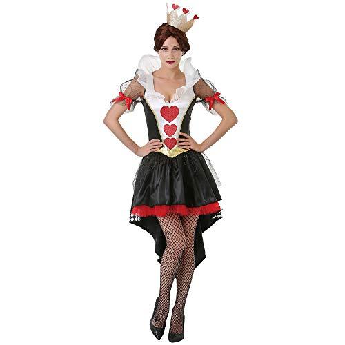 Boo Inc. Queen of Hearts Halloween-Kostüm für Frauen, Alice im Wunderland - schwarz - Small