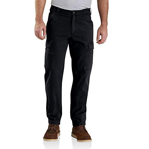 Carhartt Rugged Flex Relaxed Rigby Cargo Pant Pantaloni da Lavoro, Nero, 38W x 30L Uomo