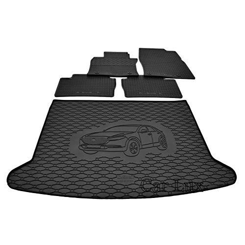 Car Lux DUO01187 - Alfombra protector maletero + Alfombras alfombrillas de goma a medida para Mazda CX-30 CX30 desde 2019-