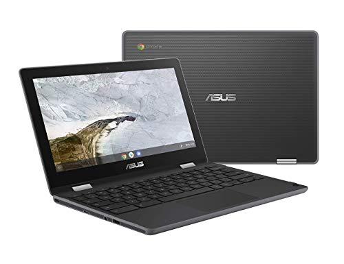 Asus Chromebook Flip C214MA-YS02T-S Water Resistant Chromebook Laptop, 11.6 inch 360 Touchscreen 2 in 1, Intel N4000, 4GB LPDDR4 RAM, 32GB Storage, Mil-Std 810G Design, Chrome OS, Stylus (Renewed)