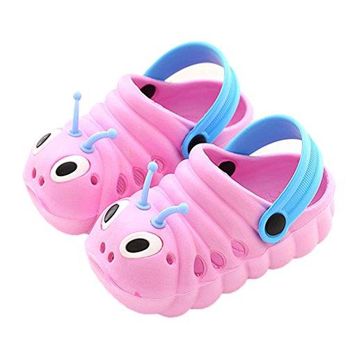 ZYLDK Sabots et Mules Enfants Sabots Pantoufles Chaussures Mixte Enfant Bébé Fille Garçon Antidérapant Eté Piscine de Jardin Clogs de Plage à Enfiler,Rose,18 EU