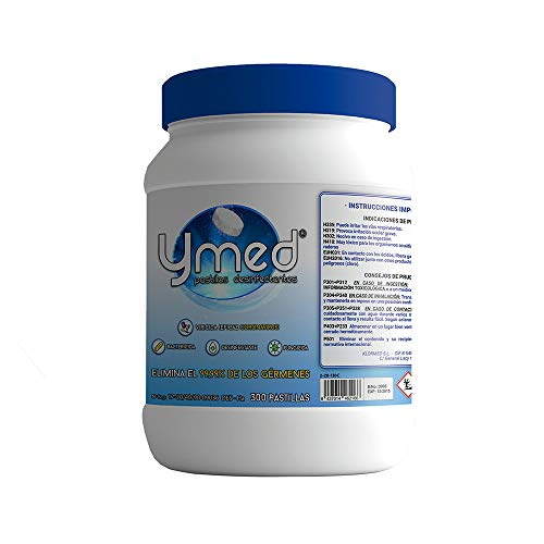 Pastillas desinfectantes (Bote 300 unids.) Potente desonfectante con base de cloro orgánico, que consigue desinfectar, blanquear y desodorizar todo tipo de superficies y materiales.