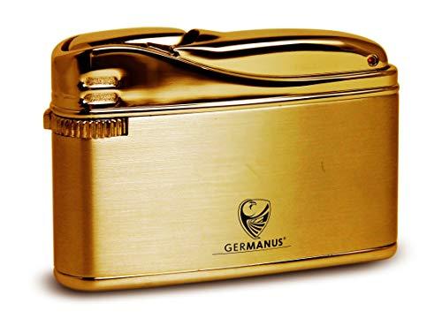 GERMANUS Feuerzeug Flosse, Gold mit Echtgold vergoldet II