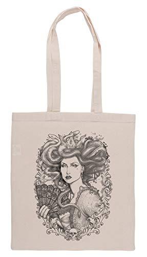 Luxogo Meduse Imperatrix Mundi Einkaufstasche Groceries Beige Shopping Bag