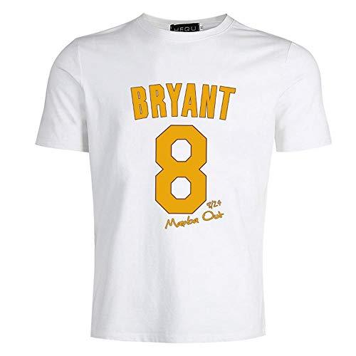 Kobe Bryant Camiseta Negra para Hombre Top de Moda de Manga Corta Tops Camiseta para Hombre Camiseta Informal Suelta Hip Hop Camiseta Divertida con Letra