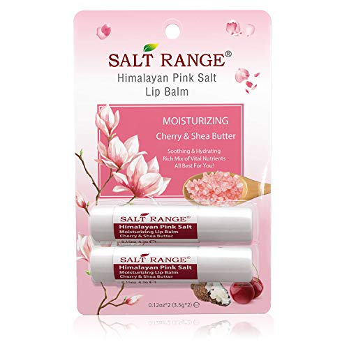 Salt Range Moisturizing Lip Balm Cherry & Shea Butter - Chapstick for Dry, Chapped Lips & Cracked Lips, 2-Pack