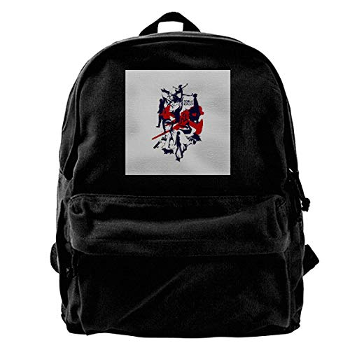 maichengxuan Canvas Backpack Cowboy Silhouette Rucksack Gym Hiking Laptop Shoulder Bag Daypack for Men Women