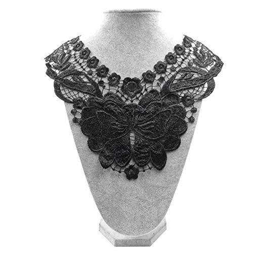 1pc collar de encaje de 9 estilo hermosa flor y corazón Venise encaje apliques de encaje de tela de encaje suministros de costura de encaje cuello negro