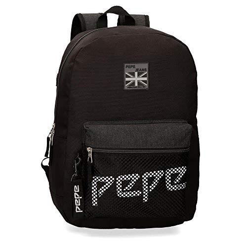 Pepe Jeans LondonRen BackpackNiñosCarterasNegro (Black)13x30x37 centimeters (W x H x L)