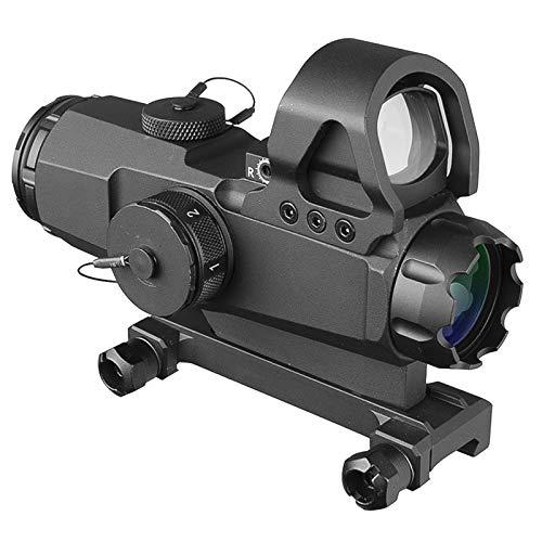 AJDGL Holographisches Reflex Red Dot Sight - Tactical Optics Scope Beleuchtetes Entfernungsmesser-Fadenkreuz mit 20-mm-Schienenhalterung für die Jagd