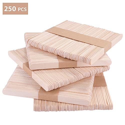 TAMAÑO: 11.4 cm de largo, 1 cm de ancho. EL PAQUETE INCLUYE: 250 palos de madera natural, ecológicos y no tóxicos. MADERA NATURAL: Todos los palitos en nuestro set están hechos de madera 100% natural. Han sido lijados para dejarlos suaves y estén lis...