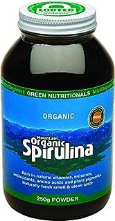 Green Nutritionals Mountain Organic Spirulina Powder 250 g, 250 grams